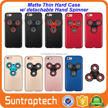 Ultra Thin matte hard Cover Phone Case with Fidget Finger toy Removeable Hand Spinner for iphone 7 7s plus 6 6s IP6C146
