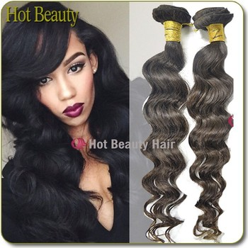 2015 Hot Beauty Hair Golden Supplier 100% Brazilian Light Brown Weave