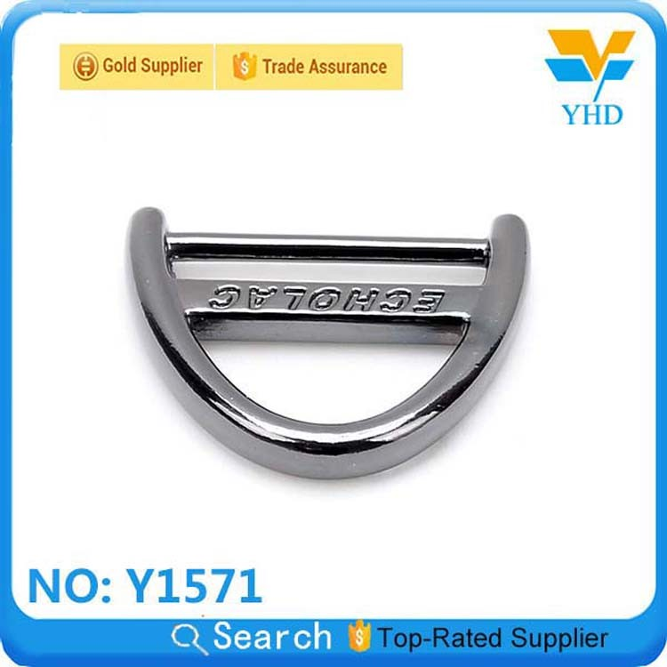 bulk wholesalel black metal buckle with logo for belt accessories