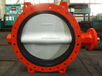 Manufacture U type Butterfly Valve DN700 PN10 Ductile Iron for water control