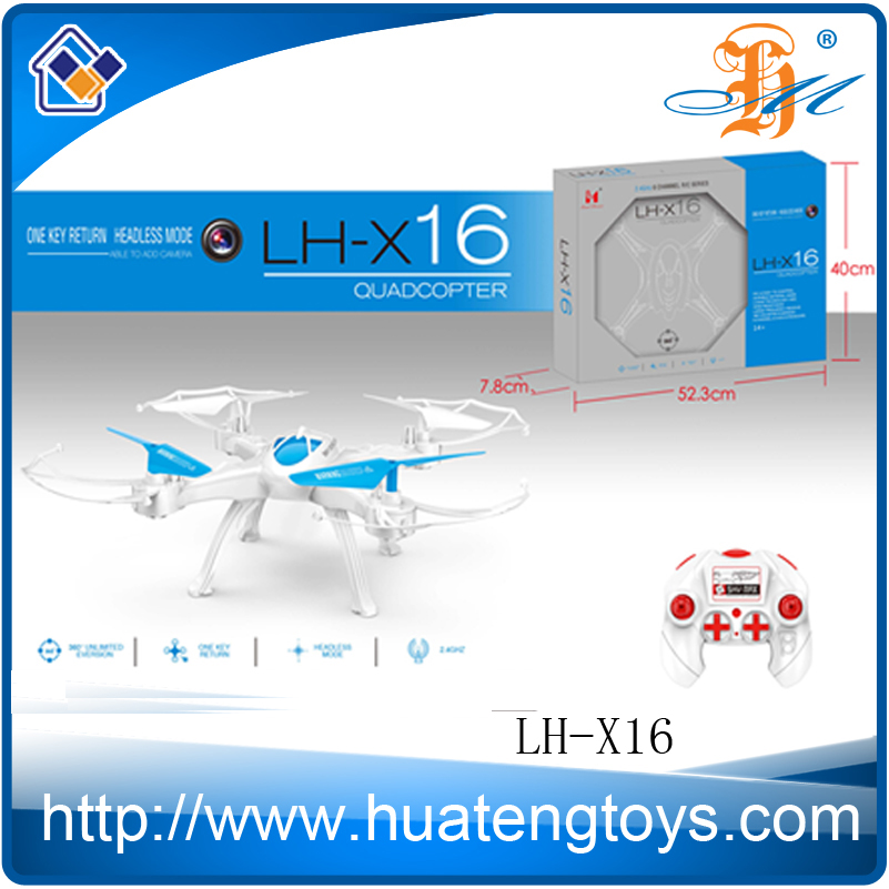 2.4G 4CH 6Axis Gyro Quadcopter Drone with 3D Flip and Auto Return RC Drone Quadcopter LH-X16