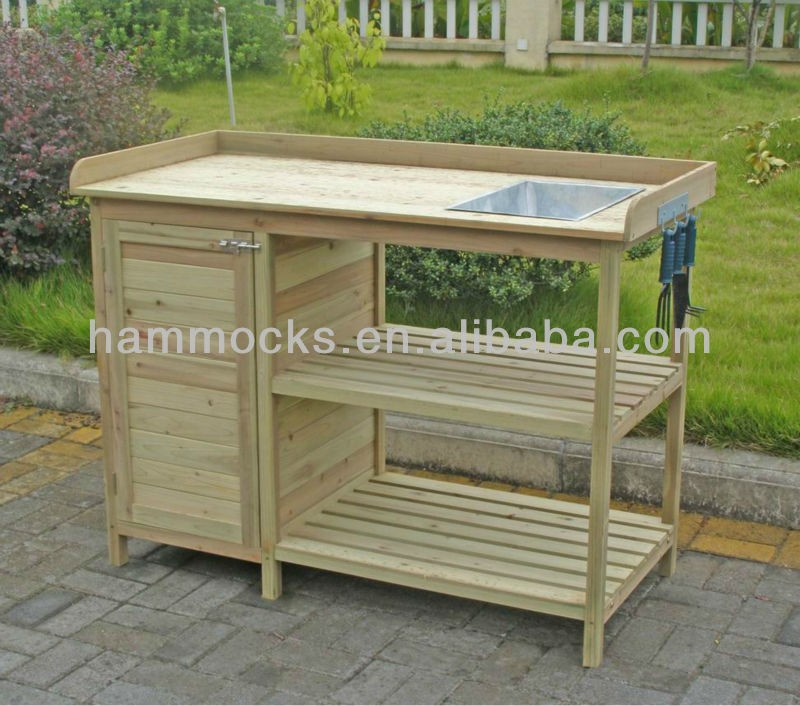 Garden Potting Bench wooden bench