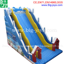 2015 newest best quality cheap ocean theme inflatable slide for kids