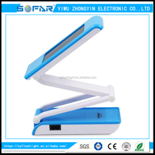 Yiwu Plastic Solar Power Flexible Rechargeable Led Desk Lamp