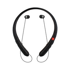 Wireless Neckband Sport Bluetooth Headphone, Retractable Earbuds with Mic