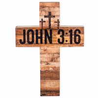 christian cross design wooden with three crosses on Calvary John