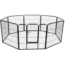 2016 hot sale custom design logo cage folding run dog fence made in china