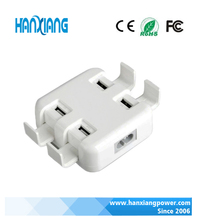 4 port usb wall charger with 4 sockets