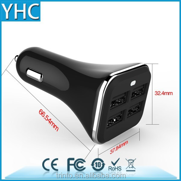 chinese cellphone charger 4 port 5v 6.8A large current usb car charger for kia k3 accessory
