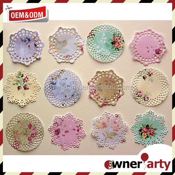 New Design And Food Safety Colored Lace Paper Doilies