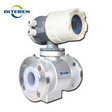 Teren digital milk sea sewage refrigerant electromagnetic flow meter hot water flow meter electromagnetic flowmeter