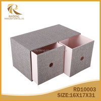 Storage box CD/DVD drawer woven paper desktop organizer accessory box