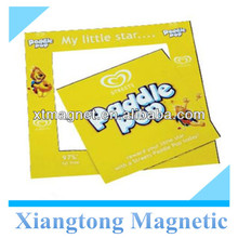 Advertising Mini Paddle Pop Magnetic Photo Frames for Kids