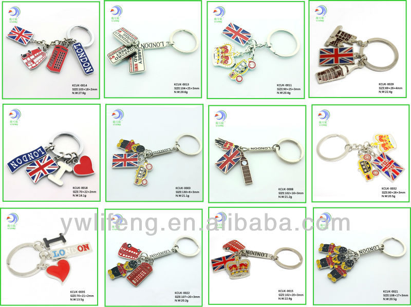 Custom Cheap Fancy Metal Keychain Cute Keychain Promotional