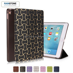 Luxury PU leather PC back smart cover case for ipad mini 2 3