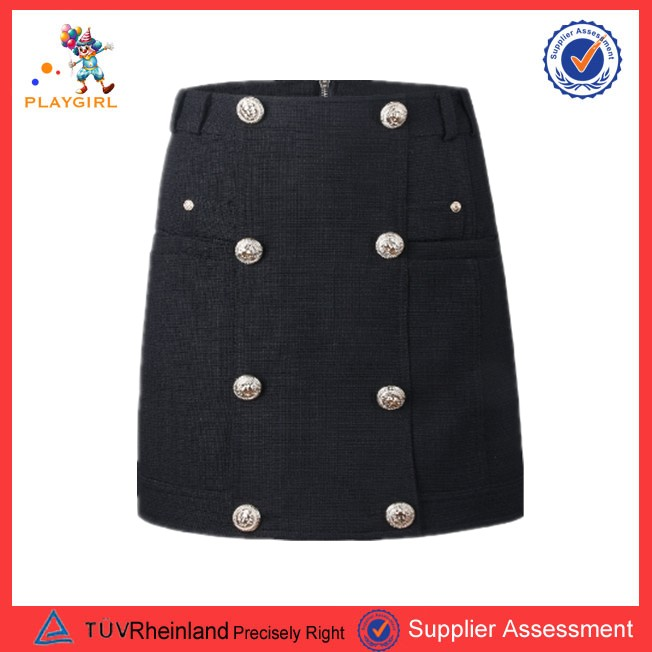 PGWC-3385 Hot selling women formal black tight lady office mini skirt