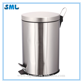 China 2018 supplier eco stainless steel 5L pedal trash can