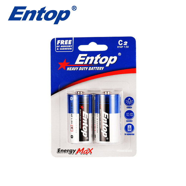 Eco-Frindly Portable C Size R14 1.5V 1350mAh Battery
