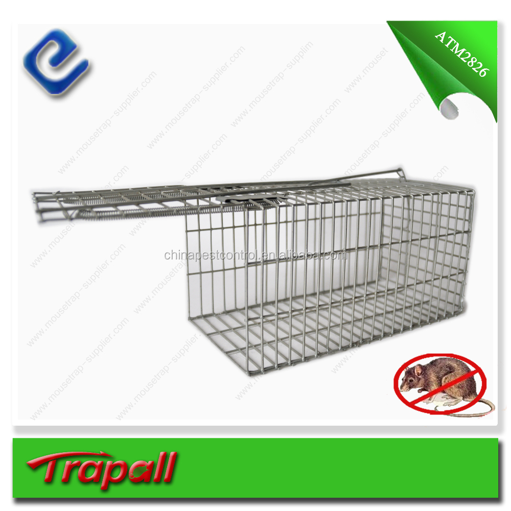 Stainless steel galvanized coated steel rat traps cage