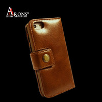 Genuine leather case, folio mobile phone cover case for iphone 5c