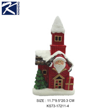 mini red castle shaped ceramic santa house christmas decor craft gifts trends 2018