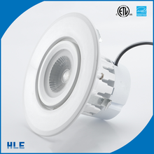 "Recessed lighting 6"" shower trim with lens torsion springs LED open trim 20w cob led downlight"