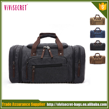 Latest model outdoor large canvas carry on traveling duffel bag luggage travel bags