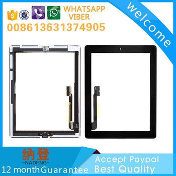 Accept paypal replacement touch parts for ipad 3 screen assembly ship by DHL