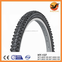 2015 new products hot sale 12-26inch bicycle tyre and tube 26x1.95 rubber bicycle tire