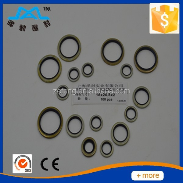 Hydraulic rubber stainless steel Bonded seals washer