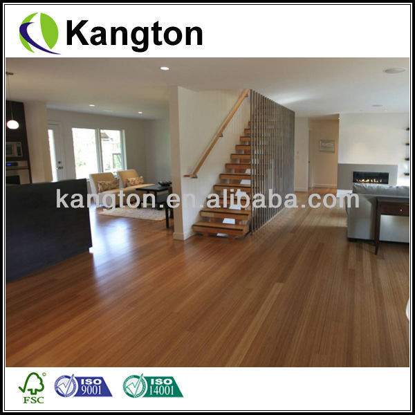 Carbonized Vertical/Horizontal Bamboo Flooring.