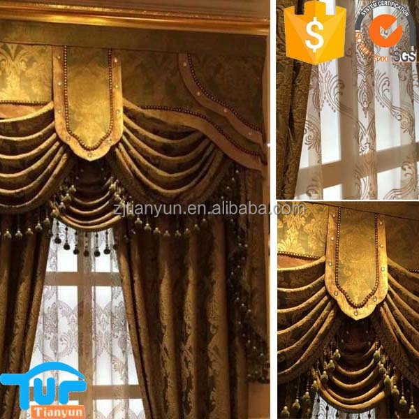 european pattern cheapest price new fancy accessories curtain