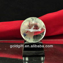 crystal ball 3d engraving airplane