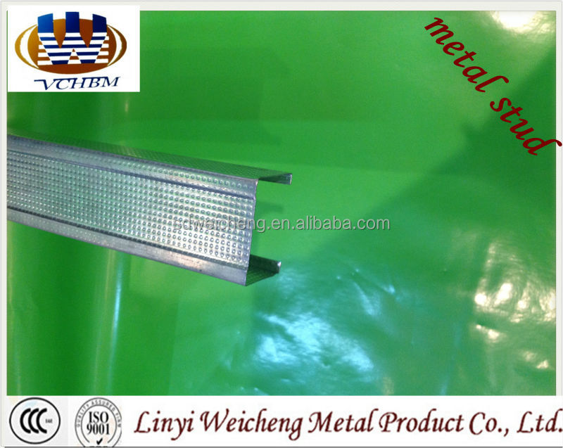 Light steel keel /galvanized metal stud/ Channel- 75 C Studs C Channel Metal Stud Light Gauge Steel Frame