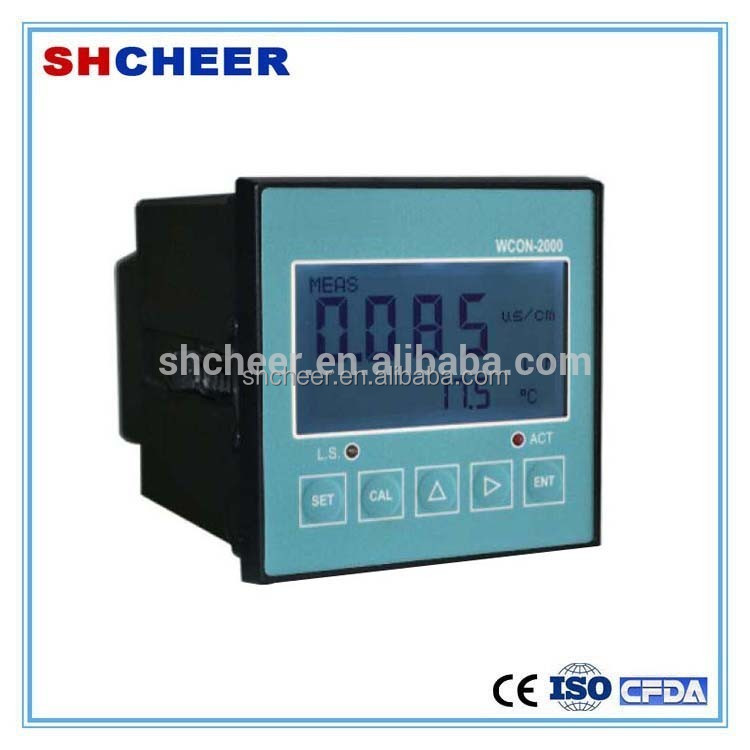 digital inline water conductivity sensor with LCD screen