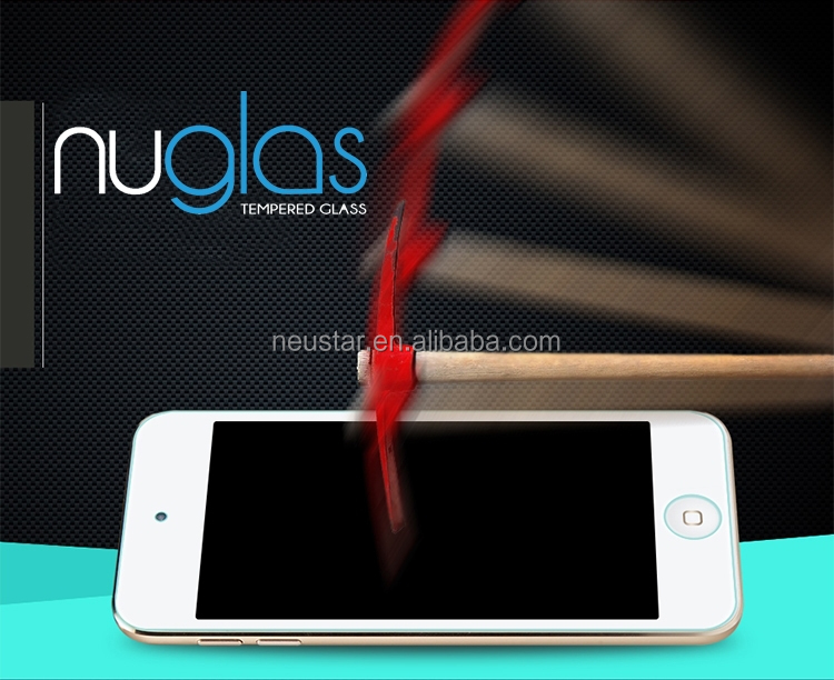 Nuglas 2.5D Curved edge 0.3mm Ultra slim tempered glass screen protectors for apple ipod touch 6 Welcome OEM/ODM