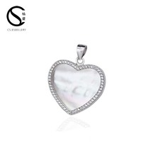 Love Heart Pattern Plate Charm Fits CZ Jewelry Pendant 3-13713