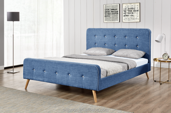 fabric upholstered head queen bed
