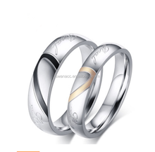Fashion Love Stainless Steel Titanium Couple <strong>Rings</strong> for Women and Men