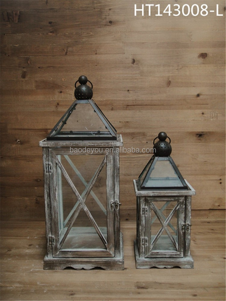 Antique kerosene hurricane lantern