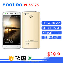 "MTK6580 Quad Core 5""incell screen touch ID 8MP camera 2GB ram 16GB rom 3G WCDMA GSM dual sim smart phone Android"