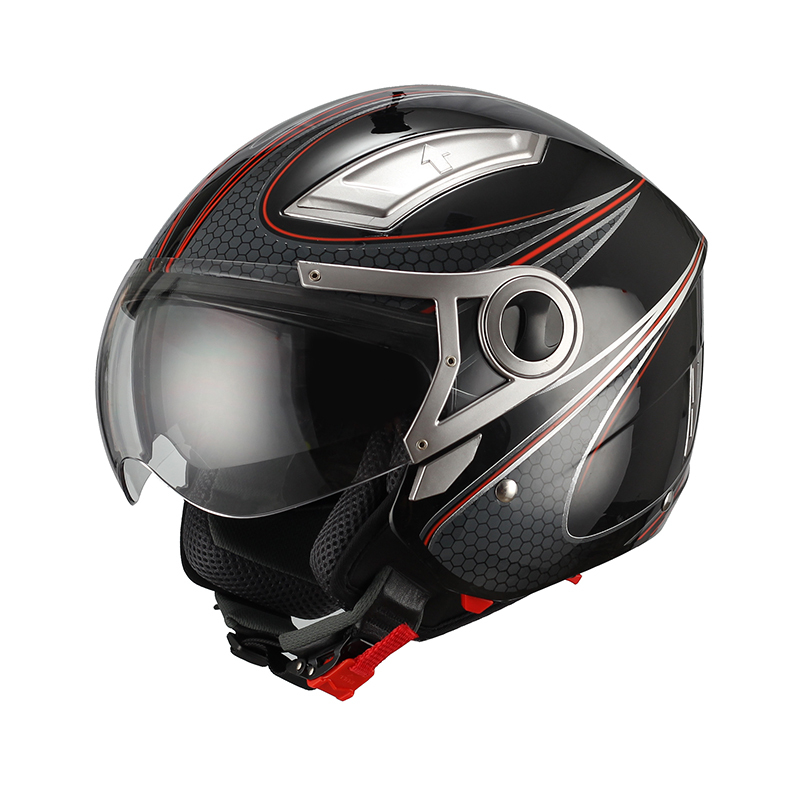 NEW open face dual visor motorcycle helmet unique DOT/ECE motorcycle helmets new style open face helmet 2015
