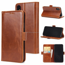 High Quality Leather Wallet Case Folio Flip Cover Magnetic TPU Stand For iPhone X