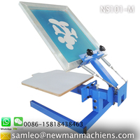 NS101 Manual 1 color 1 print bed table top T-shirt screen printing press