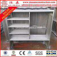 Construction working platform q235 mighty mason scaffolding system