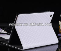 Luxury Grid Leather Smart Case Cover Stand for iPad