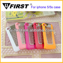 High quality simple design PC metal case for iPhone 5 5g 5S
