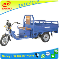 China KAVAKI manufacturer 900W adult cargo three wheel electric tricycle philippines
