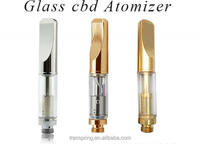 metal vape cartridge glass ecig tank 510 empty wick cbd oil glass carts
