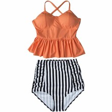 2017 New Bikinis Women High Waist Swimsuit Push Up Bikini Set Swimwear Female Halter Top Beach Wear Bathing Suits